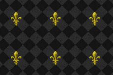 ダイヤチェックと百合の紋章のゴシックな雰囲気の壁紙(5パターン)