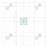 点線のグラフチェックとスクエア柄(4パターン)