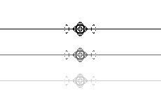 菱形と十字のシンプルなライン(透過GIF)(4パターン)