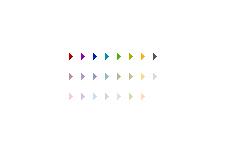 シンプルな三角形の矢印(透過GIF)(4パターン)