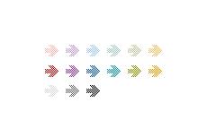 シンプルなドットの矢印(透過GIF)(4パターン)