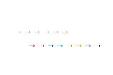 伸び縮みするシンプルな矢印(透過GIF)(4パターン)
