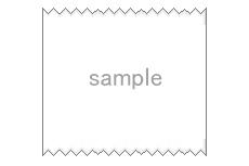 レシートのような飾り枠(透過GIF)(2パターン)