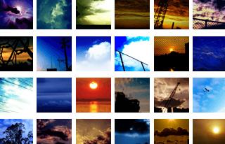 50*50ピクセルの空の写真(249個)