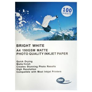 NEO 190 GSM A4 MATT PHOTO HEAVY WHITE PAPER