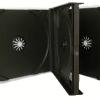 CD Jewel Case Quad 4 Way Black Tray