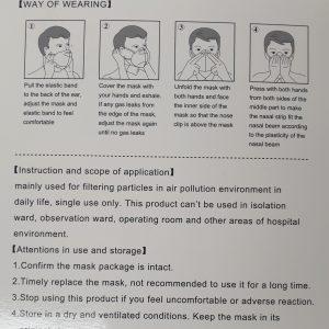 KN95 PROTECTIVE MASKS ANTIBACTERIAL FFP2-0