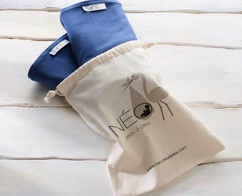Sac deux écharpe Néo   bleu marine kangourou recommandée en puériculture pour les bébés à termes ou prématurés