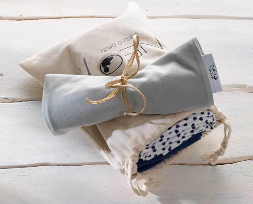 Pack Néo peau à peau bandeau pour bébé et écharpe de portage