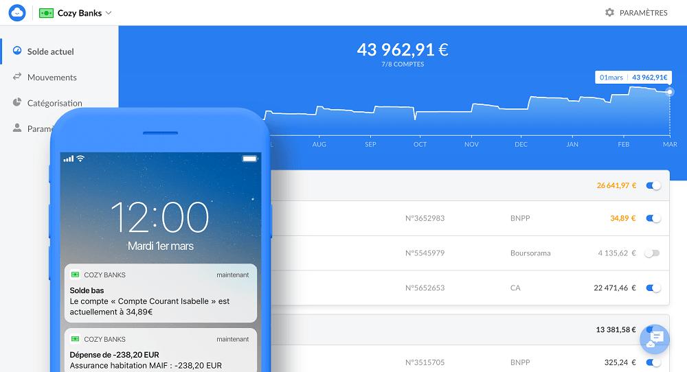 Cozy-banks-notification