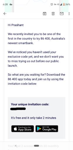 8600 sign up process   Neobanks in Australia