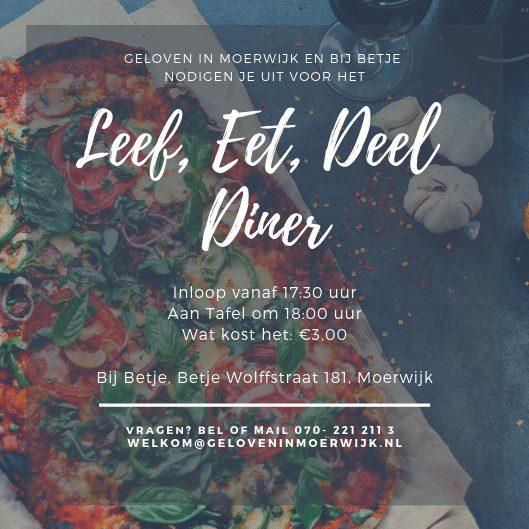 Leef, Eet, Deel Diner Samen Eten in Moerwijk Geloven in Moerwijk Bij Betje Bettelies Westerbeek Neo de Bono