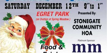 Michael Mei Real Estate Stonegate Community Breakfast with Santa Post Card-Front side_ Neo Design Concepts Print Marketing Graphic Design