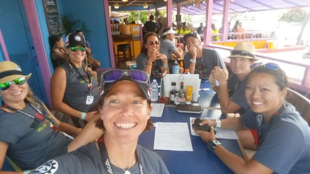 Coach Nicole and the 303triathlon.com team taking a lunch break at the 2016 IRONMAN World Championships