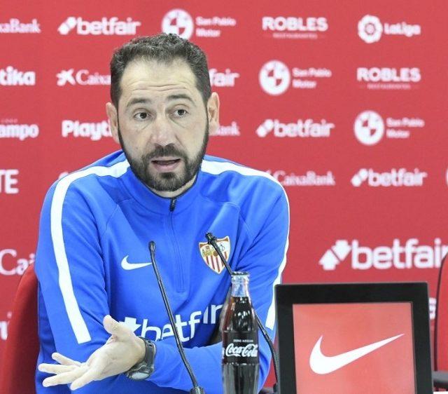 El entrenador del Sevilla FC, Pablo Machín. Imagen SevillaFC.es