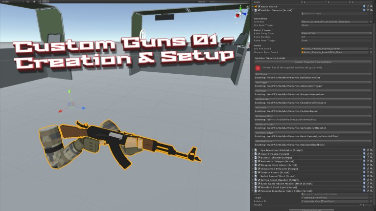 NeoFPS - The Unity FPS controller asset - Custom Guns 01 - Creation