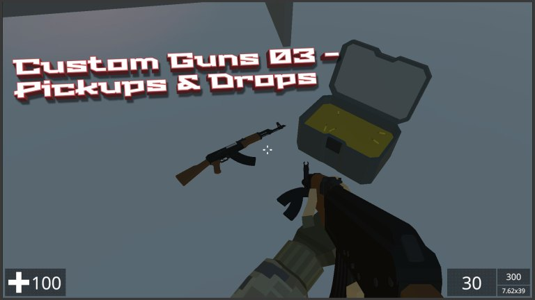 NeoFPS - The Unity FPS controller asset - Custom Guns 01 - Pickups