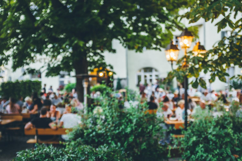 Biergarten in Augsburg – Berghof. Foto: Neoheimat