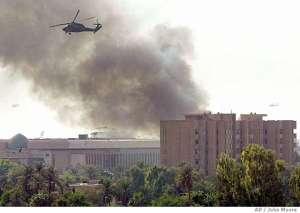 Robbanás történt Amerika iraki nagykövetségének közelében