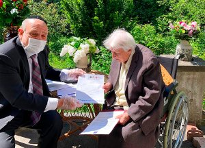 Államfők is köszöntötték a 101 éves lengyel embermentőt