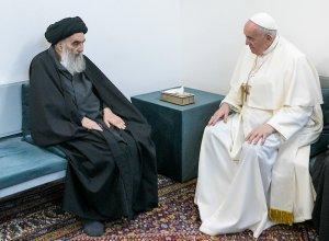 Az iraki síiták legbefolyásosabb vezetőjével találkozott Ferenc pápa