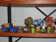 Carrito de madera, Figuras Kinder Sorpresa, Transformers