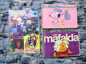 Álbum DBZ y Mulan, Comics Charlie Brown y Mafalda