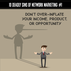 10 Deadly sins of Network Marketing To Avoid