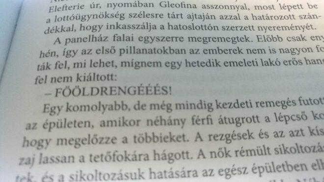 Egy vicces jelenet részlete a Simion, a panelszent című román könyvben.