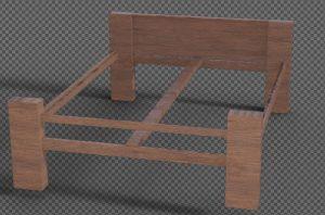 Slimline bed