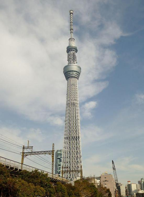 634 meters (2,080 ft). Opened in 2012 and made of steel. It is a telecom, eatery, and perception tower in Sumida, Tokyo, it the tallest pinnacle on the planet and the second tallest structure on the planet after Burj Khalifa (829.8 m/2,722 ft)