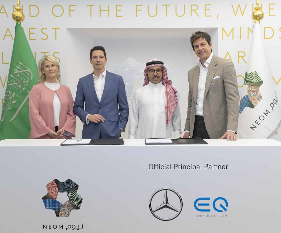 NEOM signs a partnership with Mercedes-Benz EQ Formula E team
