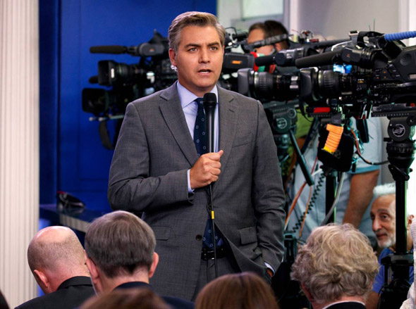 jim acosta s press pass was revoked after he aggressively hijacked a white house press conference with the president