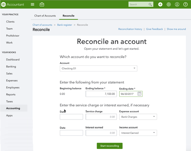 nonprofit bookkeeping tip: use quickbooks' reconciliation feature