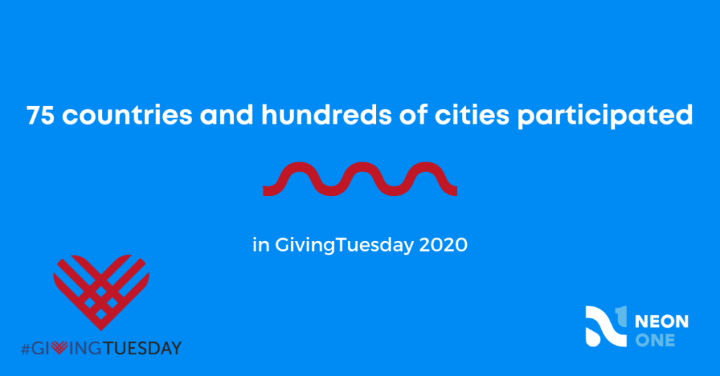 75 countries and hundreds of cities participated in GivingTuesday 2020