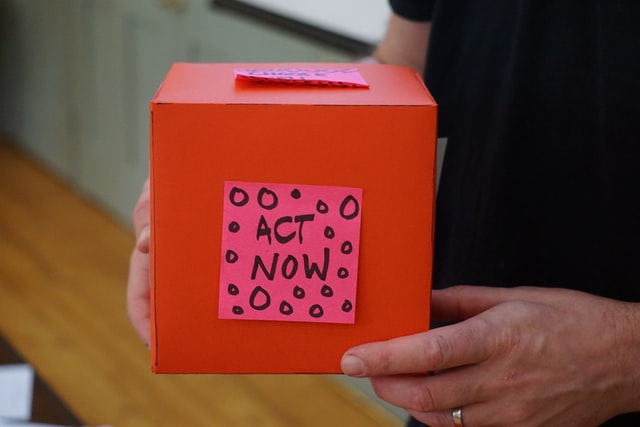 """Orange box that says """"Act Now"""" for Cause Marketing"""