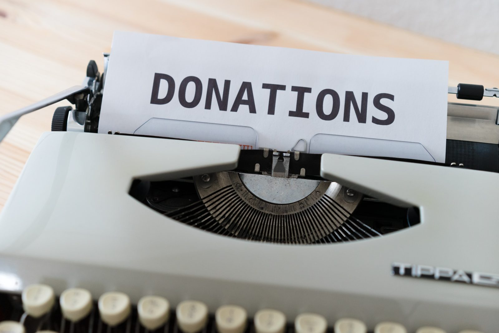 how to create a donation page