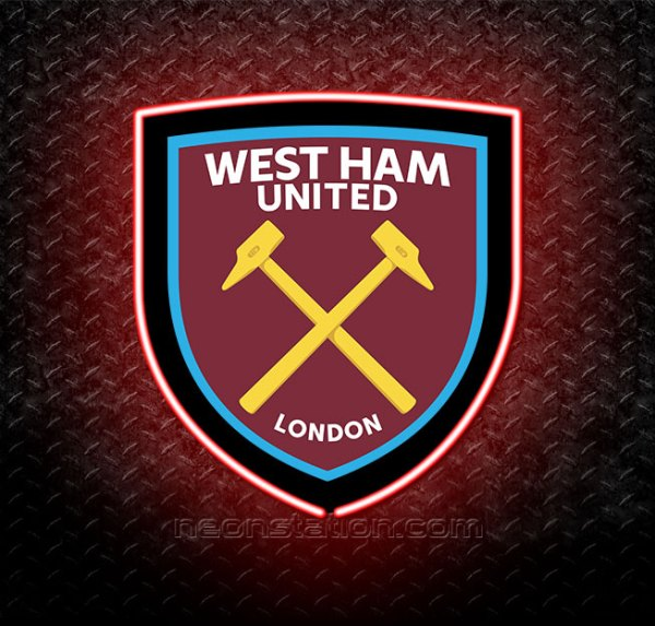 West Ham United FC 3D Neon Sign