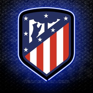 Atletico Madrid FC 3D Neon Sign