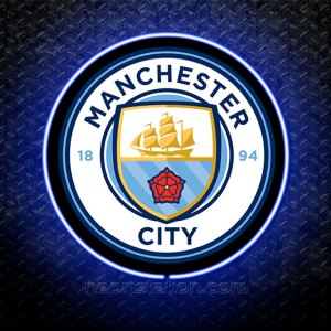 Manchester City 3D Neon Sign