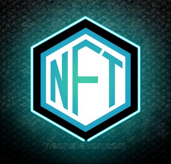 NFT Non Fungible Token Crypto 3D Neon Sign