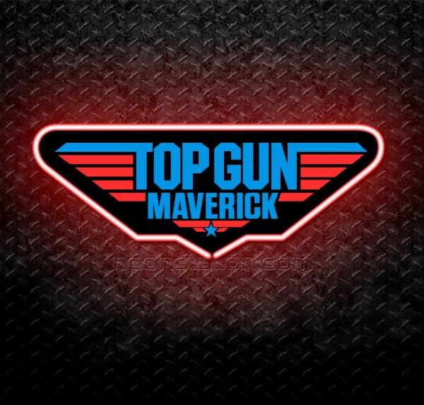 Top Gun Maverick 3D Neon Sign