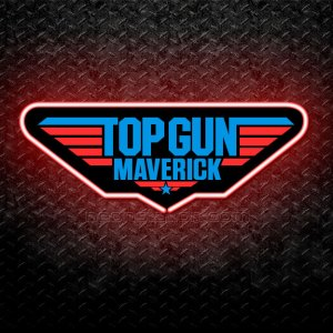 Top Gun Maverick 3D Neon Sign