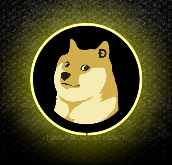 Dogecoin 3D Neon Sign