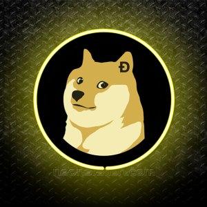 Dogecoin 3D Neon Sign