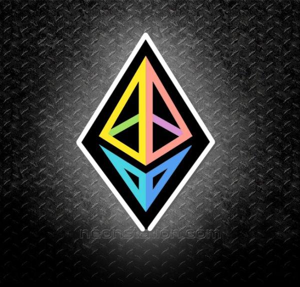 Ethereum 3D Neon Sign