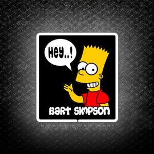 Bart Simpson Say Hey 3D Neon Sign