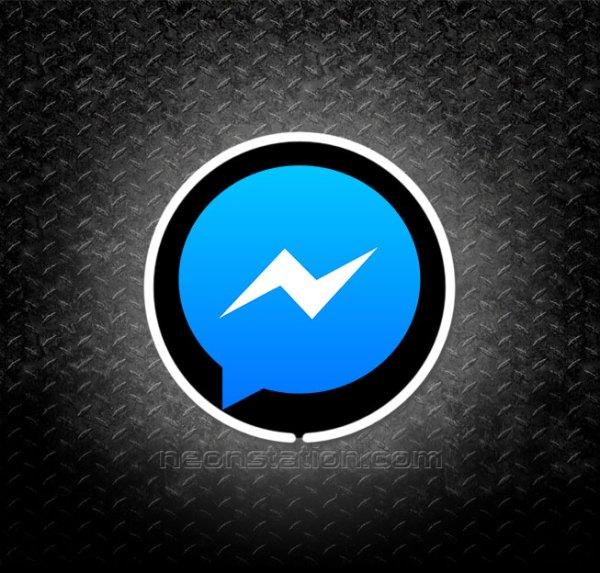 Facebook Messenger 3D Neon Sign