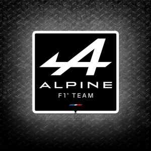 Formula One F1 Alpine 3D Neon Sign