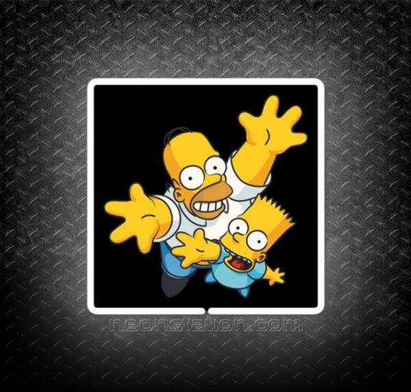 Homer & Bart Simpson Family 3D Neon Sign